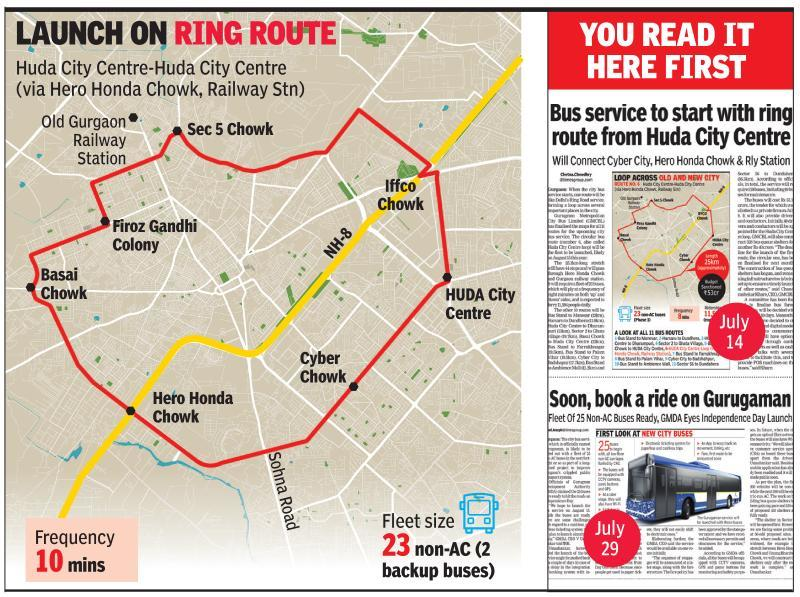 CM confirms I-Day launch of bus service in Gurgaon