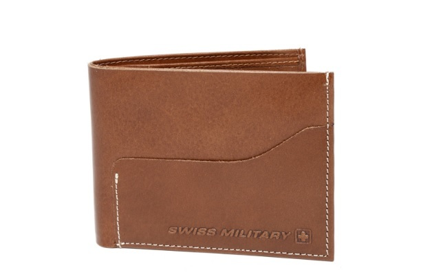 Swiss Military Brown Leather Wallet