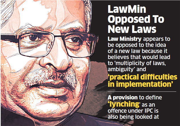 Law  Mob lynching: Centre may amend existing laws | India News Master
