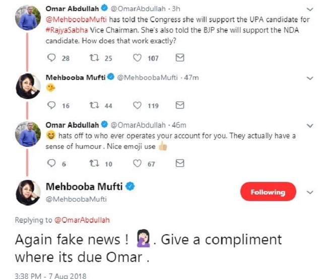 FakeNewsEmoji  When Mufti used Pinocchio emoji to accuse Abdullah of spreading fake news | India News Master