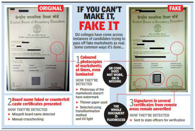 delhi university from photocopied marksheets to boards that don t