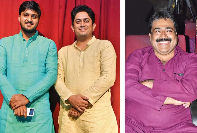 (L) Anurag Singh and Aditya Kumar Singh (R) Shafaat Hussain (BCCL/ Vishnu Jaiswal)
