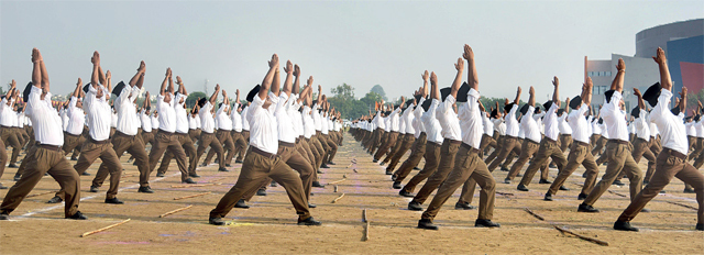 The RSS has never asked its cadres to vote for any particular party.