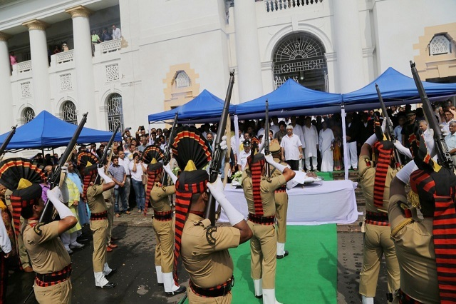 Somnath Chatterjee's last rites were with full state honours