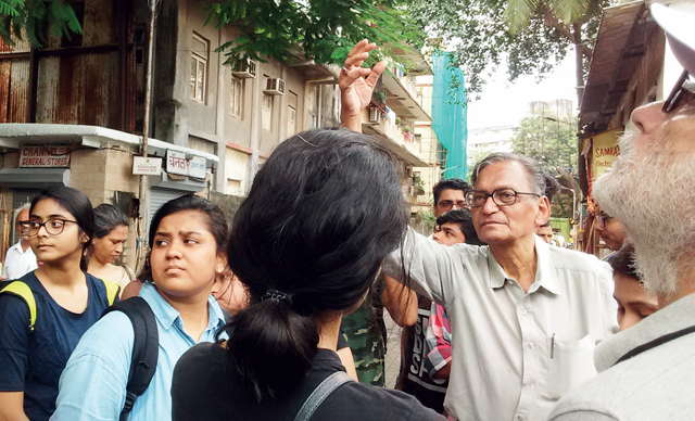 Last week, historian Rafique Baghdadi led a walk through the congested lanes of Grant Road (E), where Saadat Hasan Manto resided during the 1930s and 1940s
