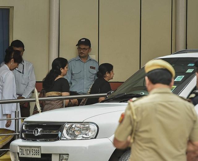 Sushma Swaraj at AIIMS (PTI)