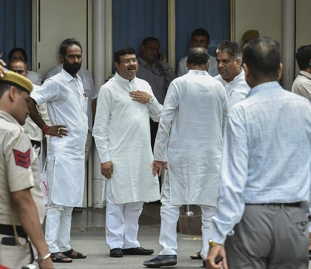 Dharmendra Pradhan at AIIMS (PTI)
