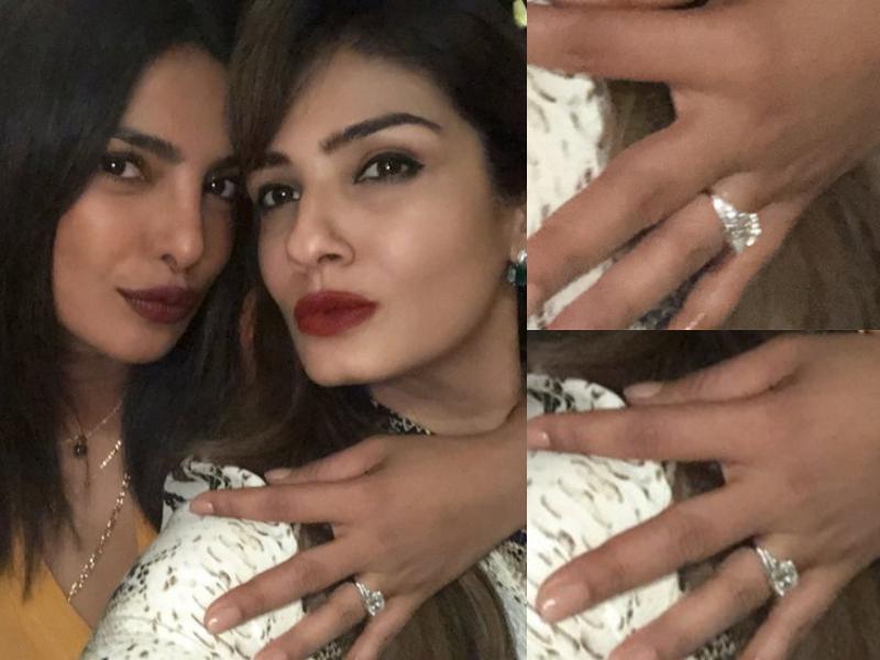 Priyanka Chopra ring finger Nick Jonas ring Tiffany and Co