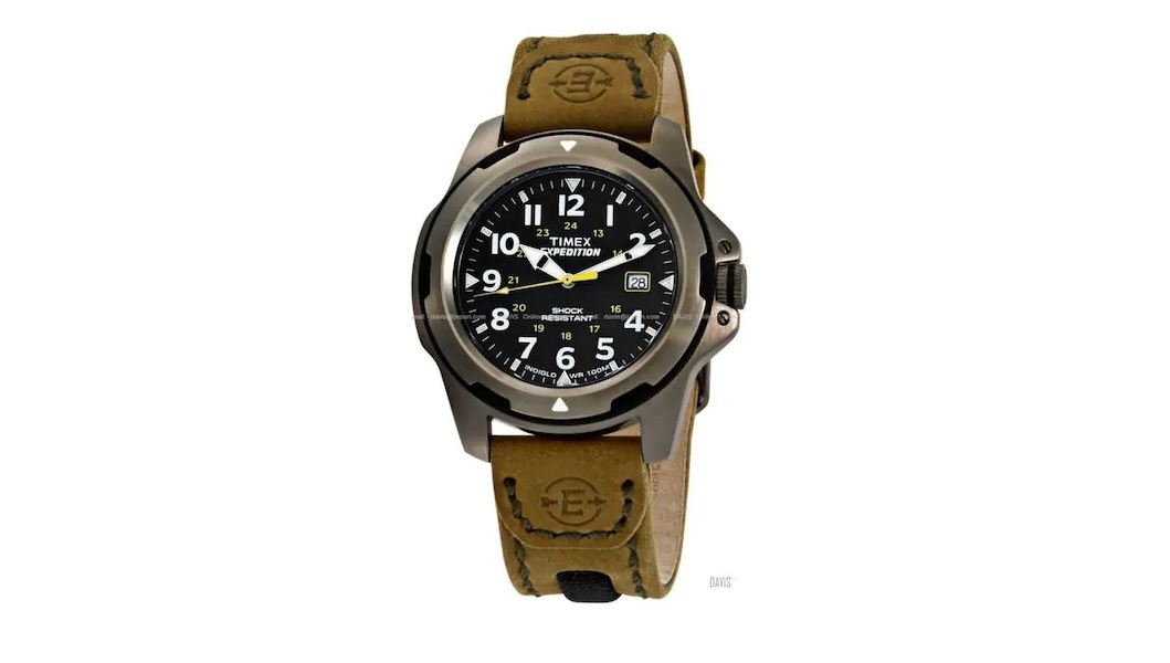 Timex T49271 Expedition Rugged Field Shock Resistant Leather Strap Watch