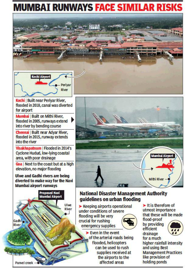 Image result for 2005 & 2018 lessons: Airports near rivers prone to flooding