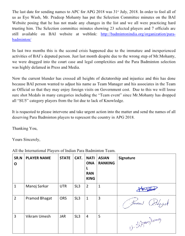 Letter to BWF-2