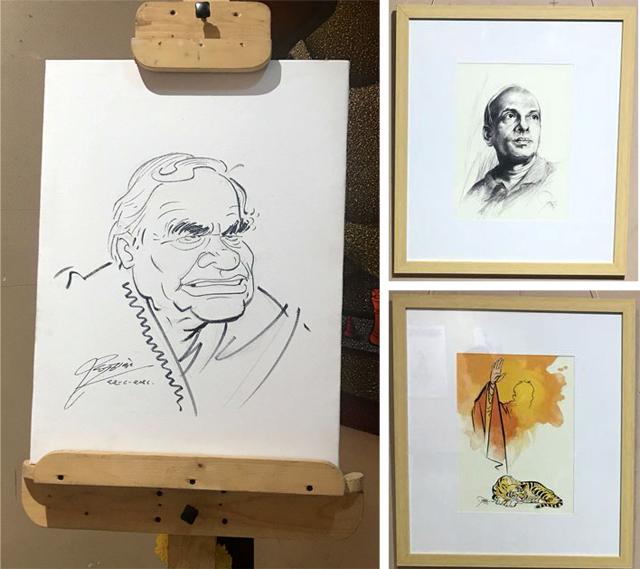 Raj Thackeray's caricature of Atal Bihari Vajpayee (above)