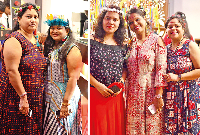 (L) Priya and Shashi (R) Priyanka, Shweta and Garima (BCCL/ Pankaj Singh)