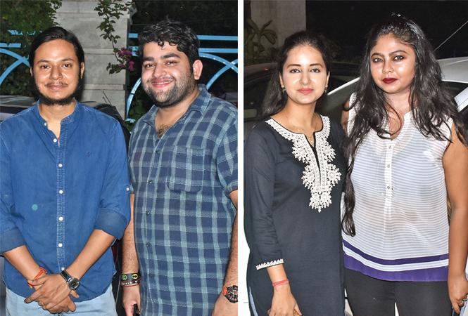 (L) Siddharth and Ashutosh Singh (R) Tripti and Shahbhavi Singh (BCCL/ Vishnu Jaiswal)