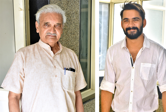 (L) Anil Rastogi (R) Dheeraj Bajpai (BCCL/ Vishnu Jaiswal)