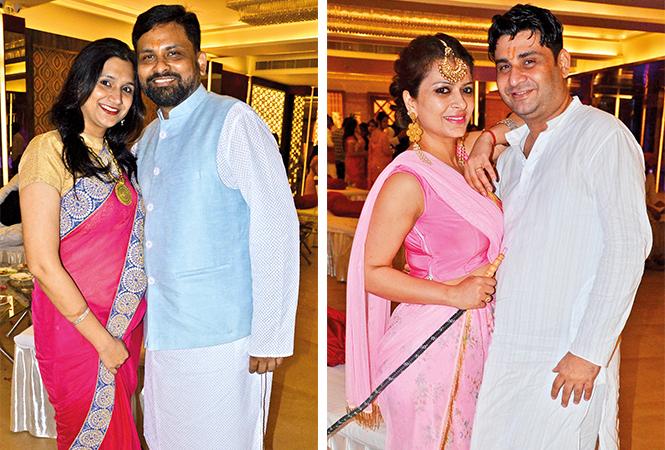 (L) Pallavi and Abhishek (R) Tanvi and Rakesh (BCCL/ IB Singh)