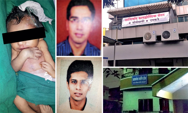 (Clockwise) Baby was deemed fit by Dr Ashish Adsule and Dr Harshad Adik; both centres are now shut