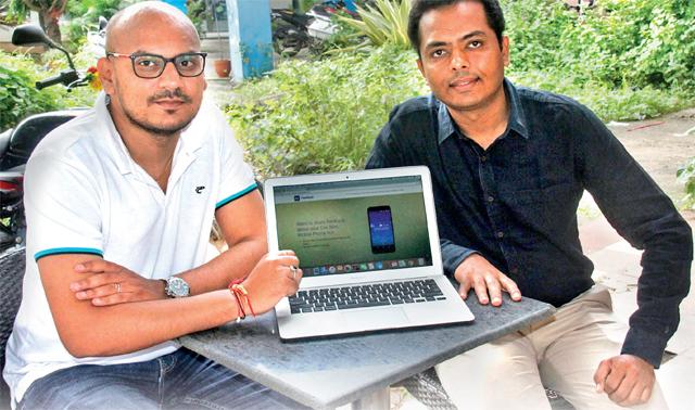 Krishna Patil (left) and Sandip Patil