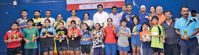 The winners and runners up in various categories during the prize distribution ceremony