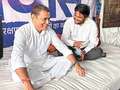 NCP leader Praful Patel assured Hardik of his party's support