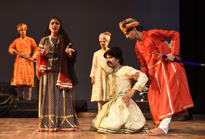 A scene from the play Prithviraj Raso