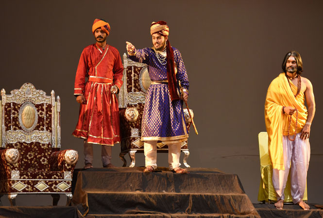 The play depicted the life of Maharana Prithviraj Chauhan