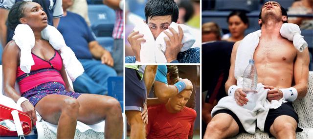 FLUSHED AT THE MEADOWS! Novak Djokovic, Andy Murray, Venus Williams and Ricardas Berankis