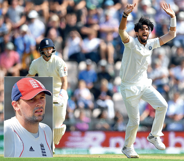 Former England pacer Steve Harmison (inset) was in full praise for Ishant Sharma