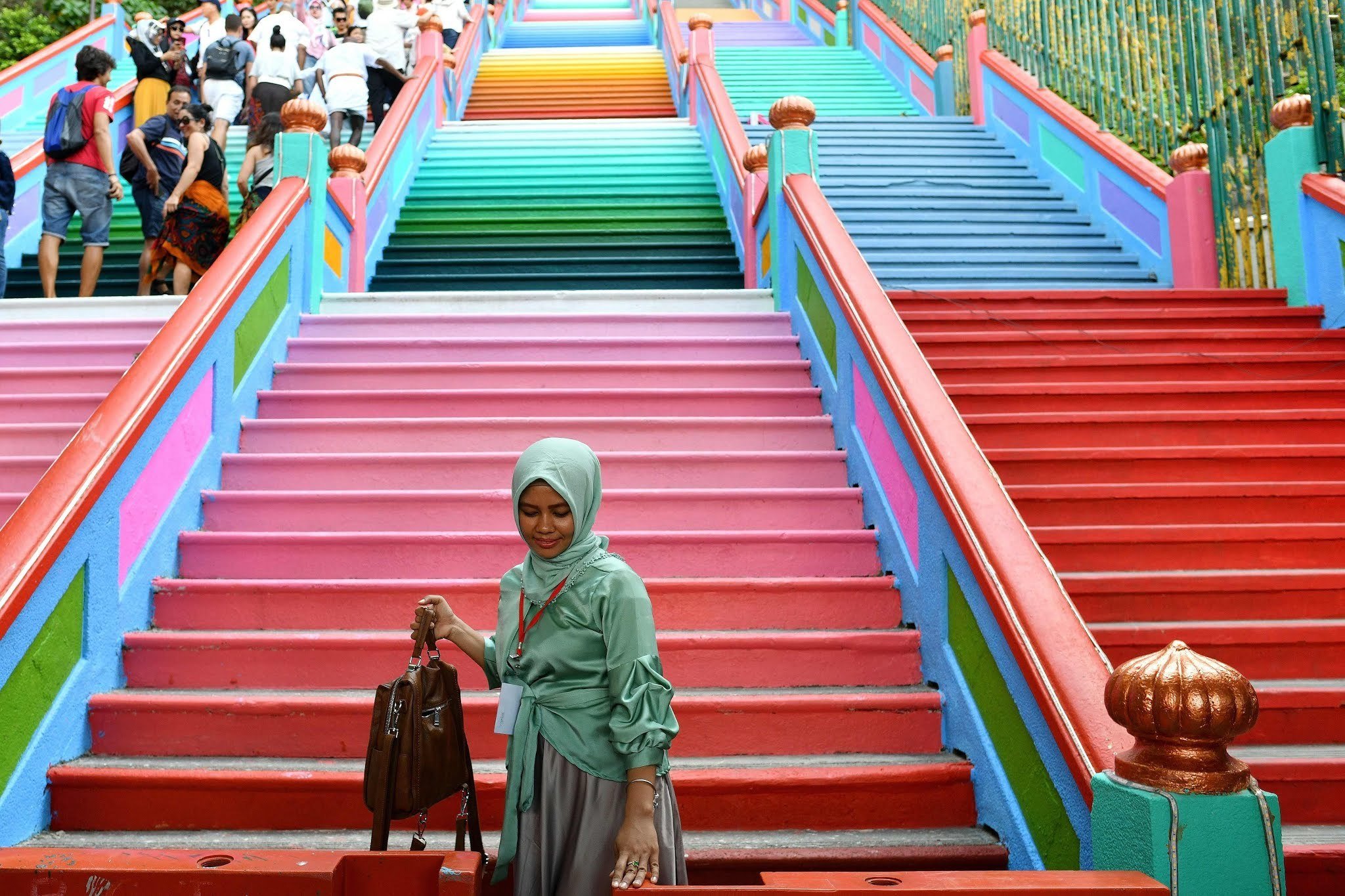 The temple is visited not just by the Hindu population of Malaysia but also by tourists. (AFP)