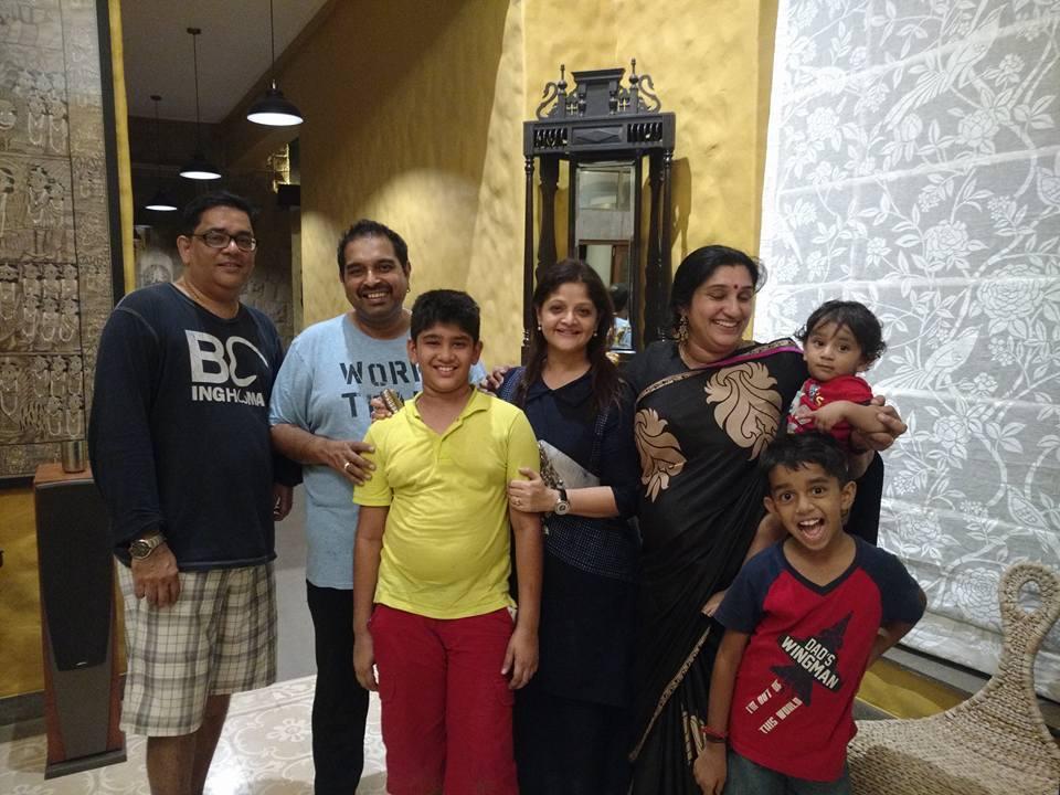 deepti's family with shankar Mahadevan