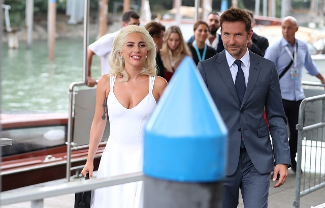 Lady Gaga and Bradley Cooper arrive at the Venice International Film Festival. Reuters Photos