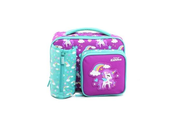 Fantasy compartment lunch bag purple