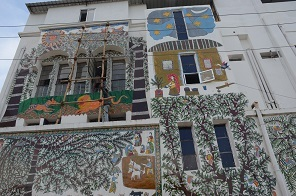 Vidyapati Bhawan has been completely covered with madhubani painting (1)