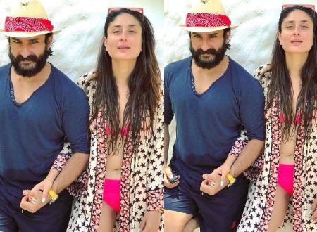 Saif and Kareena bikini