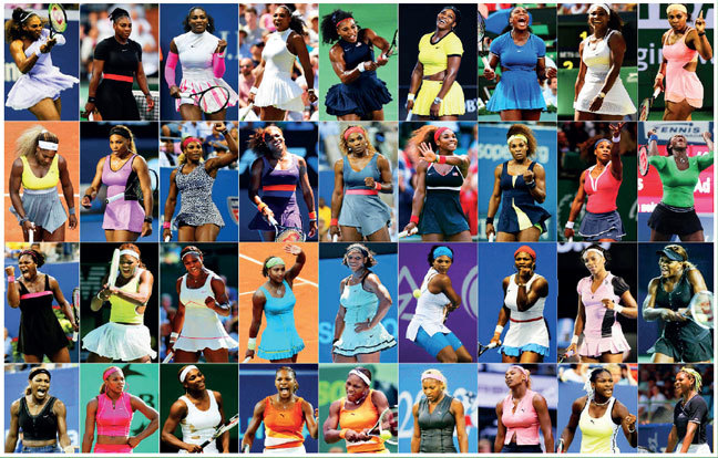 STYLE QUEEN! A picture collage of every outfit worn by Williams going back from 2018 to 1998
