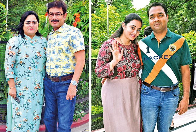 (L) Sonal and Kamal (R) Suvidha and Rishi (BCCL/ AS Rathor)
