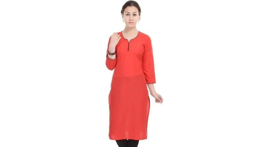 Women's Red Kurta