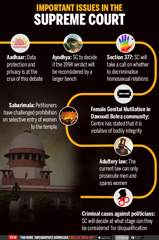Important issues in the Supreme Court-Infographic-TOI