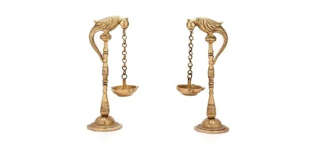 Bird Diya Oil Lamp Stand Holder