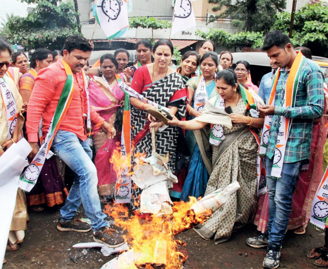 TAWDE QUESTIONED: A group of women, led by NCP women unit chief Chitra Wagh, gheraoed Cultural Affairs Minister Vinod Tawde in Satara on Wednesday and questioned his stand on the controversy. Tawde repeatedly pointed out that the matter fell under the home department's purview and not his. He said he would raise the issue with the CM.