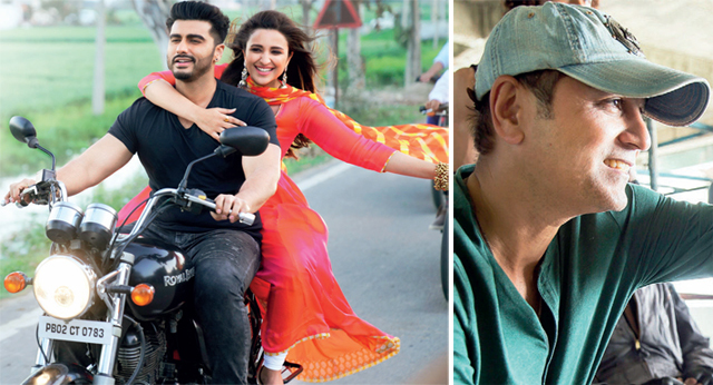 Arjun Kapoor and Parineeti Chopra in Shah's upcoming directorial; Filmmaker on the set (right)