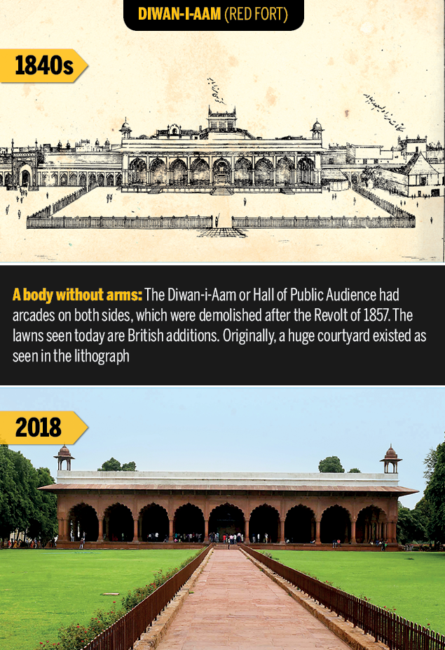Diwan-i-aam  Rare Delhi sketches of 1847 show what the capital has lost | Delhi News Master