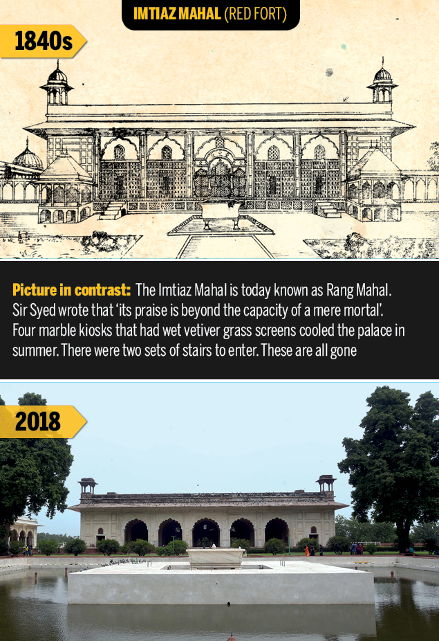 Imtiaz Mahal  Rare Delhi sketches of 1847 show what the capital has lost | Delhi News Master