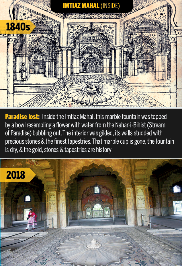 Imtiaz Mahal inside  Rare Delhi sketches of 1847 show what the capital has lost | Delhi News Master