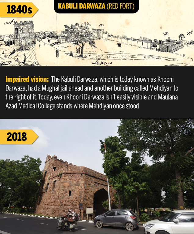 Khooni Darwaza  Rare Delhi sketches of 1847 show what the capital has lost | Delhi News Master