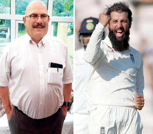 (L) Munir Ali; (R) Moeen proved to be the difference in the fouth Test with 9wickets and a crucial 40