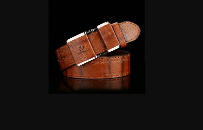 Automatic Buckle Business Casual Leather Belt
