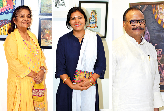 (L) Sabra Habib (C) Shashi Kala Singh (R) Brajesh Pathak (BCCL/ Farhan Ahmad Siddiqui)