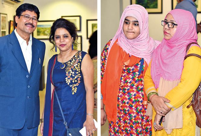 (L) Dr Jayant and Asha (R) Adeeba and Saba Naqvi (BCCL/ Farhan Ahmad Siddiqui)