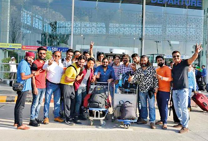 Local actors who went to Chennai to shoot with Thalaiva (BCCL/ Aditya Yadav)